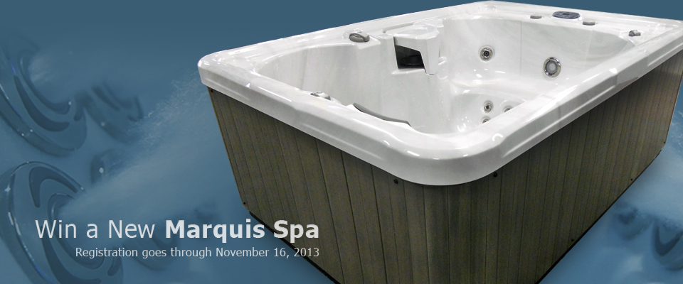 Register to Win a Marquis 322 Hot Tub